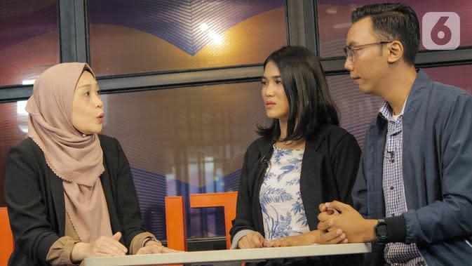 Psikolog Oktina Burlianti dalam acara Dear Netizen di KLY Office Menteng, Jakarta Pusat, Jumat (8/11/2019). (Liputan6.com/Andika Zulfikar)