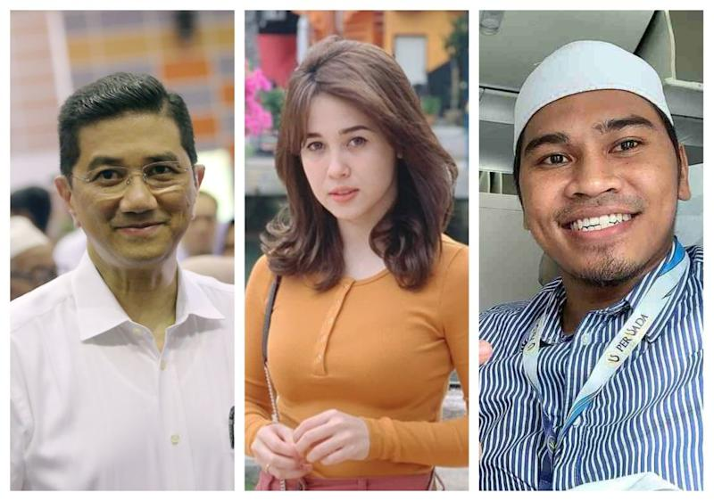 Economic Affairs Minister Azmin Ali, actress Emma Maembong and controversial preacher Abu Sufyan are among the most searched individuals on Google Malaysia this year. — Picture by Farhan Najib and via Instagram