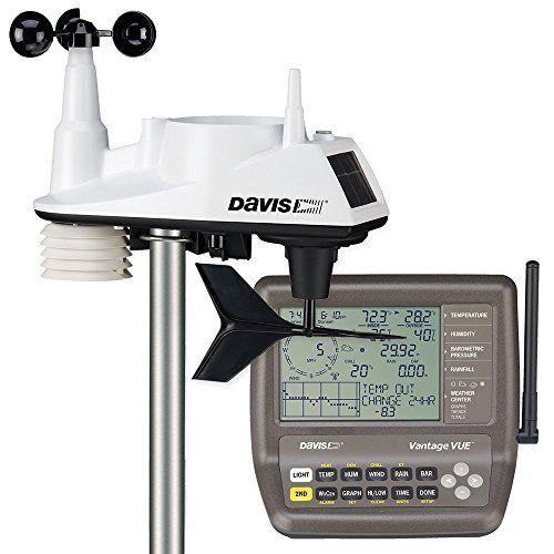 """<p><strong>Davis Instruments</strong></p><p>amazon.com</p><p><strong>$305.98</strong></p><p><a href=""""https://www.amazon.com/dp/B002LLVFK0?tag=syn-yahoo-20&ascsubtag=%5Bartid%7C10055.g.33443846%5Bsrc%7Cyahoo-us"""" target=""""_blank"""">SHOP NOW</a></p><p>Though the most expensive by far, this weather station has just about anything an amateur meteorologist could ask for in a personal device. It displays indoor and outdoor temperature, as well as humidity, barometric pressure, wind speed, wind direction, rainfall, and more. You'll always get the most accurate, up-to-date information, too—the device <strong>updates every 2.5 seconds. </strong></p>"""