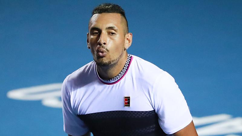 Nick Kyrgios saves three match points to down Rafa Nadal in Acapulco