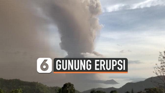 VIDEO: Gunung Taal di Filipina Erupsi, Ribuan Orang Dievakuasi