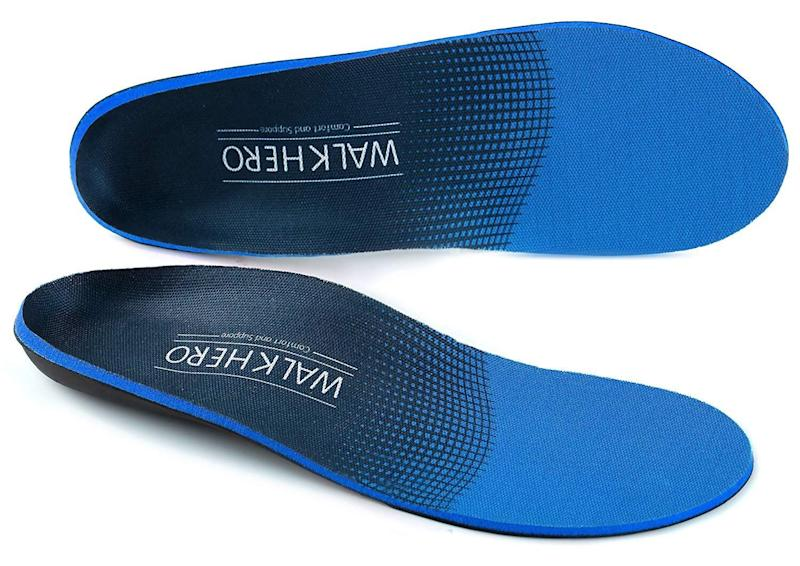 WalkHero Plantar Fasciitis Feet Insoles. (Photo: Amazon)