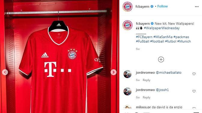 Seragam Bayern Munchen. (Instagram)