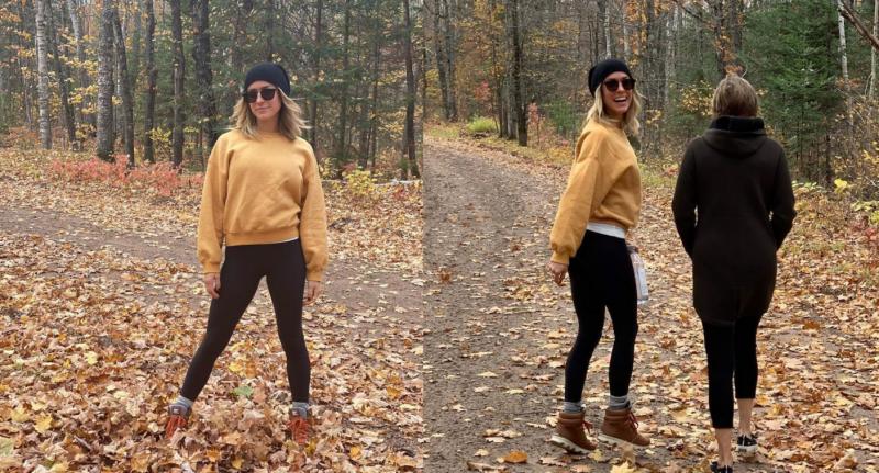 Kristin Cavallari hit the trails last weekend in a pair of $98 Lululemon Align Pants. (Images via Instagram/KristinCavallari)