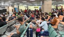颱風影響 澎湖機場一度湧200名遊客候位