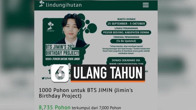 VIDEO: Army BTS Indonesia Tanam 8700 Pohon Bakau untuk Ulang Tahun Jimin