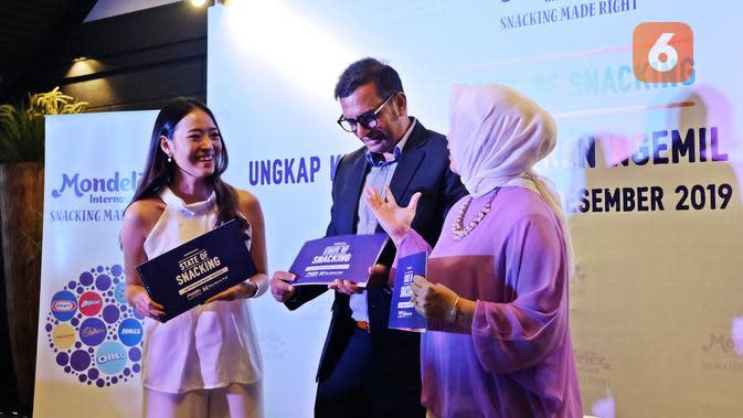 Acara pemaparan survei The State of Snacking oleh Mondelez Indonesia di Kembang Goela Restaurat, Jakarta Pusat, 3 Desember 2019. (Liputan6.com/Asnida Riani)