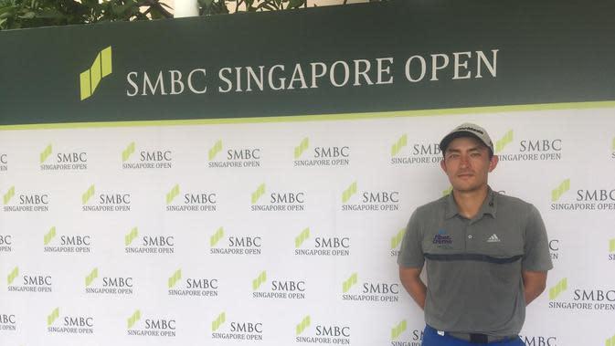 Pegolf Indonesia Danny Masrin berpartisipasi di SMBC Singapore Open 2020. (Liputan6.com/Harley Ikhsan)