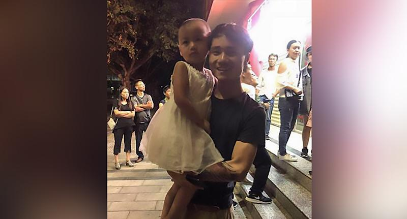 Five-year-old girl Ziyue (pictured left), was reunited with her mother Shi Wen and father Tan Xiangpeng (pictured right) at the railway station after being kidnapped for child trafficking