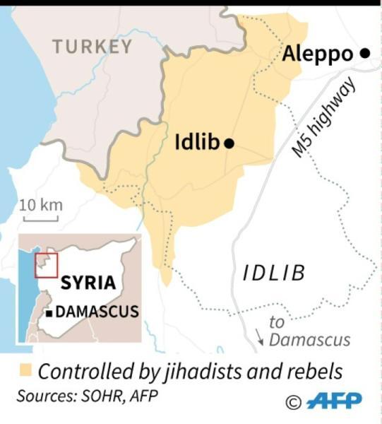 Map of Syria's Idlib province