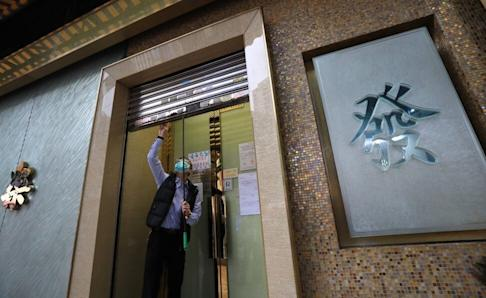 A mahjong establishment closes in Mong Kok after the government announced its new expanded policy. Photo: May Tse