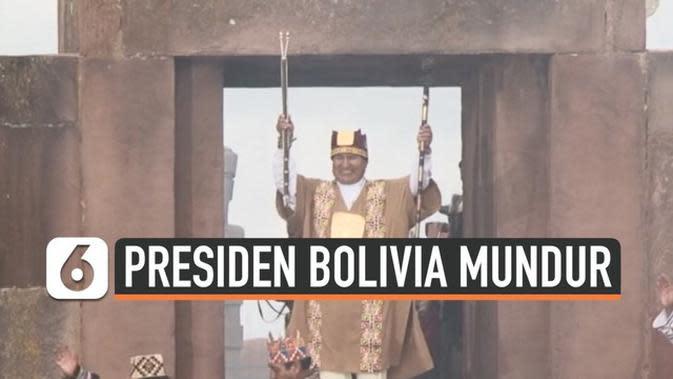 VIDEO: Ditekan Demonstrasi dan Militer, Presiden Bolivia Mundur