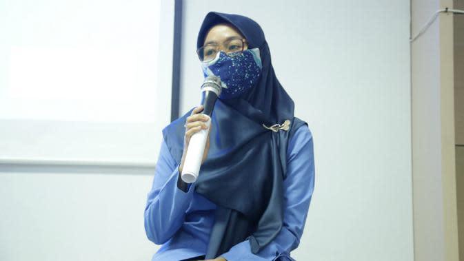 Afita Nurul Aini, guru SDN Tembok Dukuh IV di Surabaya, Jawa Timur (Foto: Liputan6.com/Dian Kurniawan)