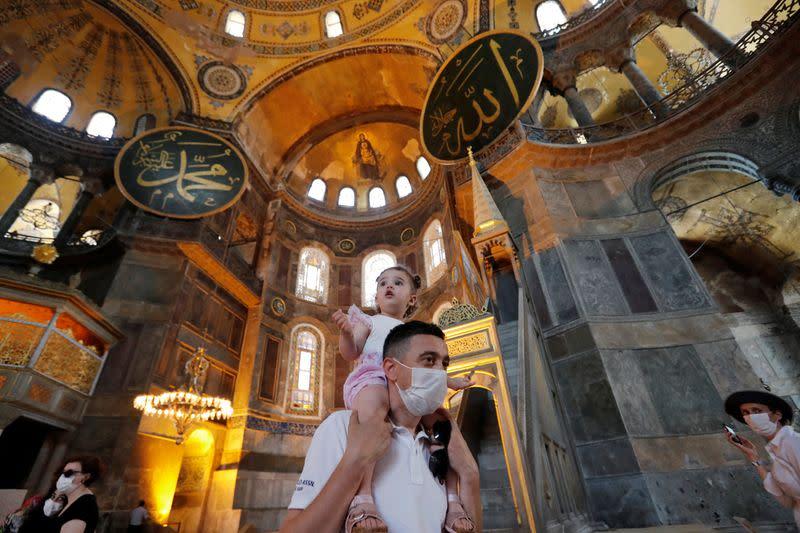 Turkey's Erdogan rejects criticism over status of Hagia Sophia