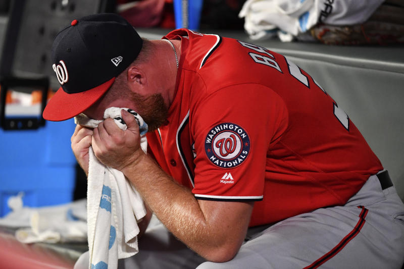 Nationals reliever sheds tears during emotional MLB return