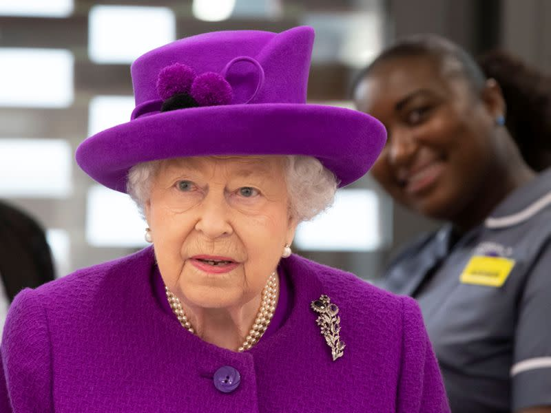 Britain's Queen Elizabeth visits the Royal National ENT & Eastman Dental Hospitals