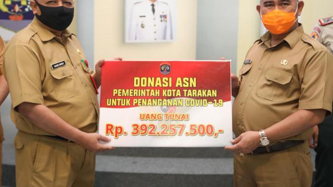 ASN Pemkot Tarakan Berhasil Kumpulkan Donasi Rp 392 Juta untuk Penanganan Covid-19