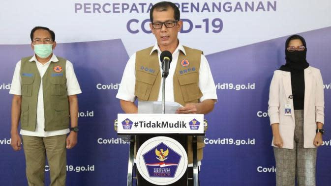 Di Graha BNPB, Jakarta, Rabu (6/5/2020), Kepala Gugus Tugas Percepatan Penanganan COVID-19 Doni Monardo menegaskan, mudik tetap tidak boleh dilakukan. (Dok Badan Nasional Penanggulangan Bencana/BNPB)