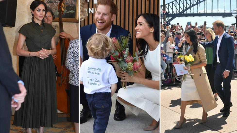 """<p>They've just announced that they're <a rel=""""nofollow"""" href=""""https://au.lifestyle.yahoo.com/harry-meghans-child-will-not-prince-princess-heres-194852302.html"""">about to become parents</a>, and Prince Harry and Meghan Markle were a hit with Aussie kids on the first day of their tour of Australia, New Zealand, Tonga and Fiji. </p>"""
