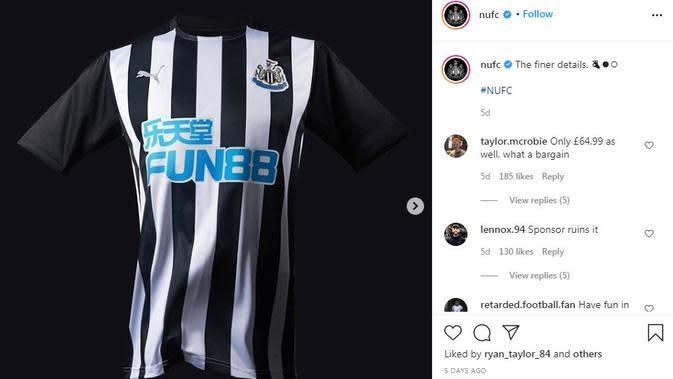 Seragam Newcastle United. (Instagram)