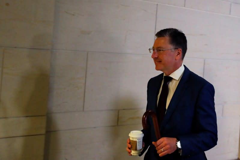 Kurt Volker arrives at closed-door deposition on Capitol Hill in Washington
