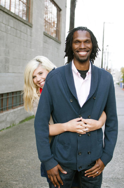This undated photo released by Feuza Reis Photography shows Staci Dennett and her fiance Nadir Karim, both 25, in Philadelphia. They are among a number of heterosexual couples who vowed not to marry until gay couples had the same rights. They set a wedding date for this fall after the U.S. Supreme Court wiped away part of a federal anti-gay marriage law in June. (AP Photo/Feuza Reis Photography)
