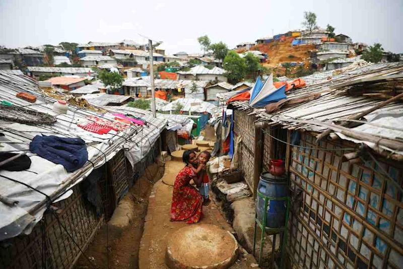 Rohingya children are seen at a refugee camp in Cox's Bazar March 7, 2019. — Reuters pic