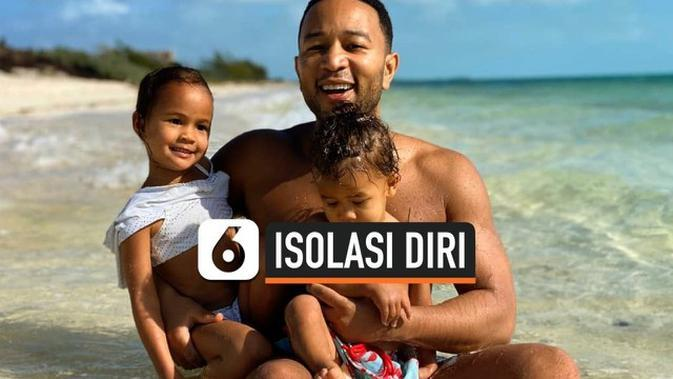 VIDEO: Isolasi Diri, John Legend Sewa Rumah di Tepi Pantai