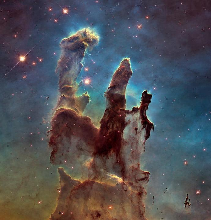 The Pillars of Creation in the Eagle Nebula