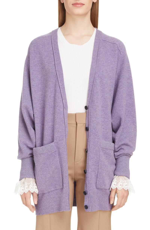 Chloe Iconic Cashmere Blend Cardigan. Image via Nordstrom.