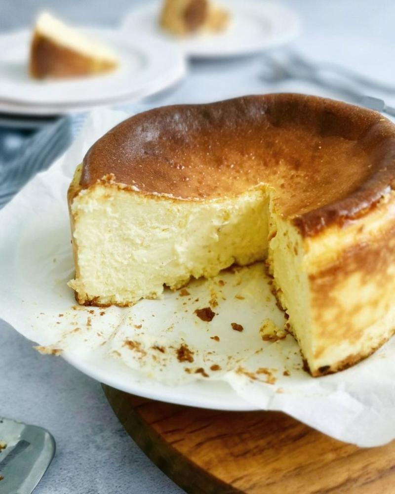 A slice of burnt cheesecake by Birch. Photo: Birch KL/Instagram