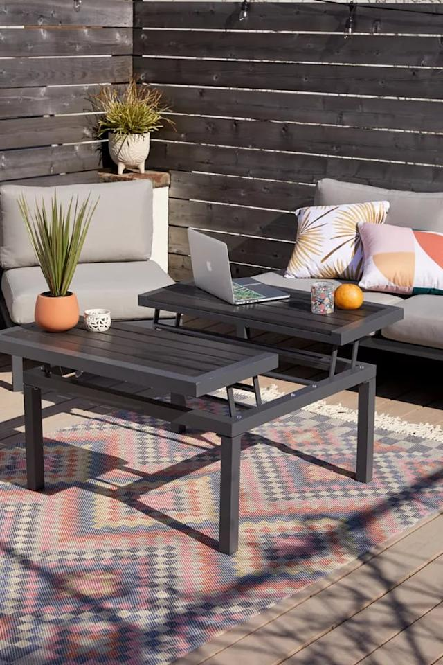 """<p>This convertible <a href=""""https://www.popsugar.com/buy/Urban-Outfitters-Uma-Outdoor-Coffee-Table-568711?p_name=Urban%20Outfitters%20Uma%20Outdoor%20Coffee%20Table&retailer=urbanoutfitters.com&pid=568711&price=499&evar1=casa%3Aus&evar9=46194910&evar98=https%3A%2F%2Fwww.popsugar.com%2Fhome%2Fphoto-gallery%2F46194910%2Fimage%2F47424058%2FUrban-Outfitters-Uma-Outdoor-Coffee-Table&list1=shopping%2Cfurniture%2Csmall%20space%20living%2Cpatios&prop13=api&pdata=1"""" rel=""""nofollow"""" data-shoppable-link=""""1"""" target=""""_blank"""" class=""""ga-track"""" data-ga-category=""""Related"""" data-ga-label=""""https://www.urbanoutfitters.com/shop/uma-outdoor-coffee-table?category=SEARCHRESULTS&amp;color=004&amp;searchparams=q%3Doutdoor%2520furniture&amp;type=REGULAR&amp;size=ONE%20SIZE&amp;quantity=1"""" data-ga-action=""""In-Line Links"""">Urban Outfitters Uma Outdoor Coffee Table</a> ($499) is so useful.</p>"""