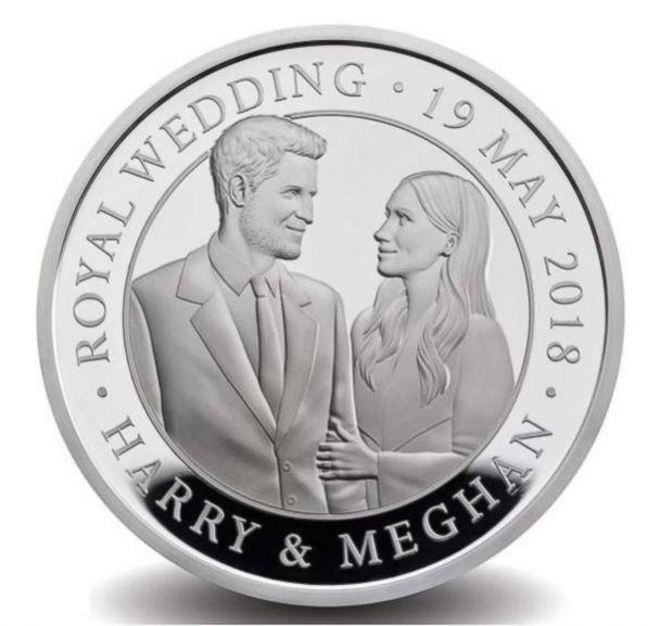 PHOTO: The Royal Mint is delighted to release this special commemorative coin marking the royal wedding between Prince Harry and Meghan Markle. (The Royal Mint)
