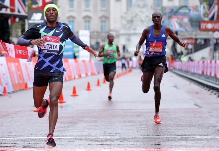 Kitata wins London Marathon as Kipchoge cracks