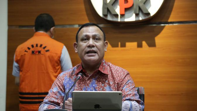 Ketua KPK Firli Bahuri dalam jumpa pers di Gedung KPK, Kuningan, Jakarta Selatan, Jumat (12/6/2020). (Ist)