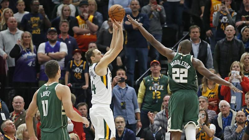 Bucks Jazz Basketball Bojan Bogdanovic