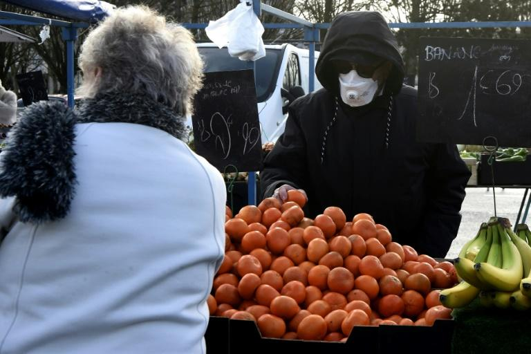 Greengrocers are keeping their distance, as well as their customers