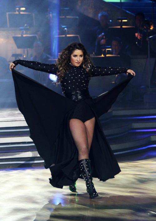 "FILE - In this Nov. 15, 2010 file image released by ABC, Bristol Palin performs during the celebrity dance competition series, ""Dancing with the Stars,"" in Los Angeles. ABC says an ""All-Star"" edition of the competition show will bring back 12 former rivals including Pamela Anderson, Kristie Alley and Bristol Palin. In a break from the past, viewers can vote online for the 13th contestant from three former contestants including actors Kyle Massey and Sabrina Bryan and celebrity stylist Carson Kressley. The celebrity dance competition series returns on ABC on Sept. 24. ((AP Photo/ABC, Adam Larkey, file)"
