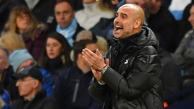 Manajer Manchester City Pep Guardiola. (Anthony Devlin/AFP)