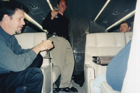 Marc Randolph & Reed Hastings celebrating Netflix's IPO in 2002 (Courtesy: Marc Randolph)
