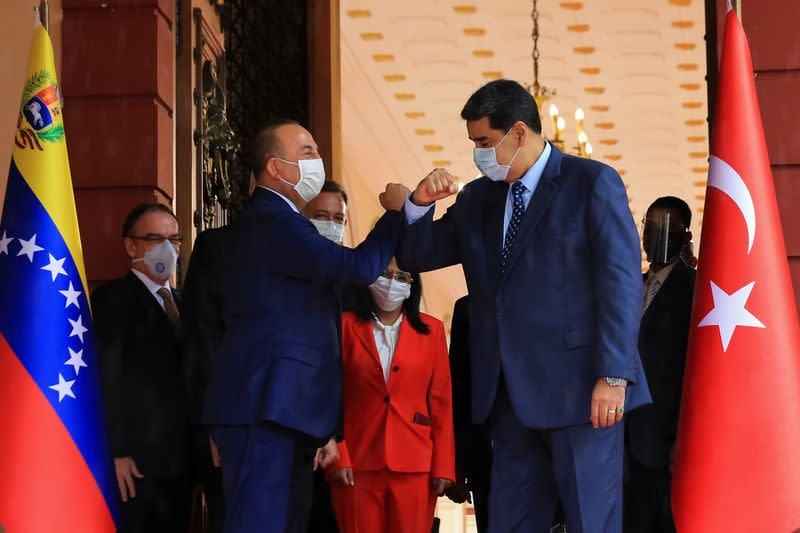 Turkey ferries COVID-19 aid to Venezuela as foreign minister visits
