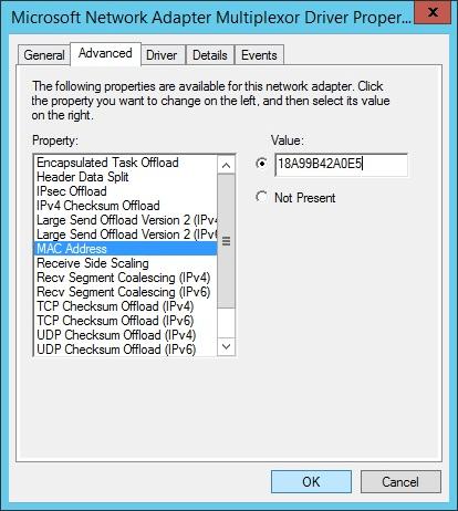 Windows MAC Address