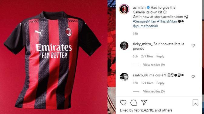Seragam AC Milan. (Instagram)