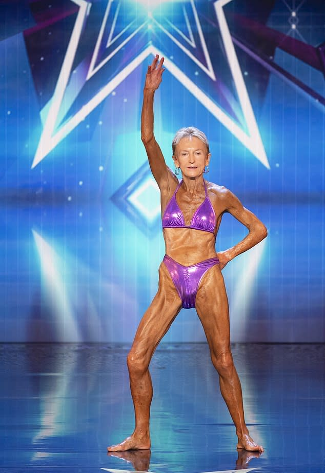 Bodybuilding grandmother Janice Lorraine got three yes votes from the Australia's Got Talent judges on Channel Seven