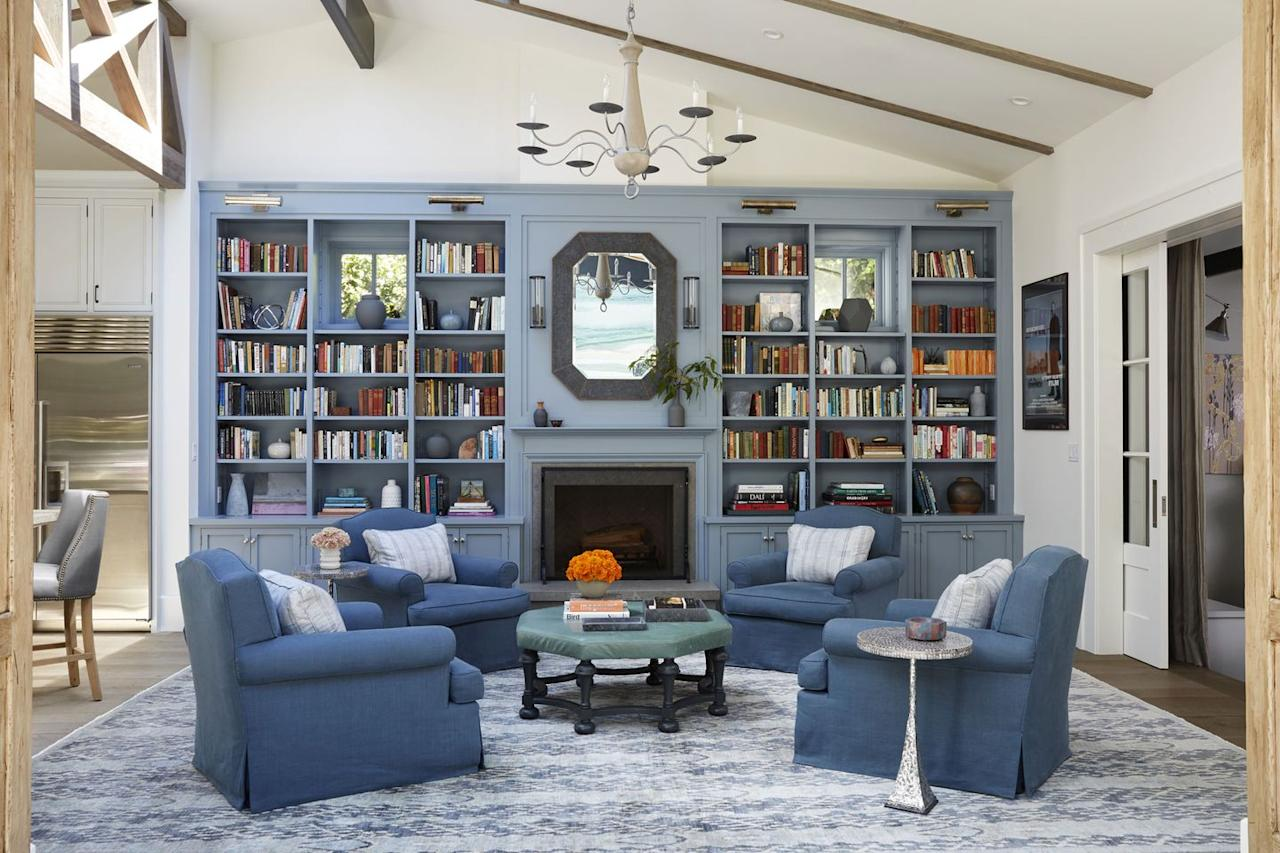 "<p>Mix shades of blue to achieve a tranquil ambience, as in this space by <a href=""https://deringhall.com/architects/tim-barber-ltd"" target=""_parent"">Tim Barber Ltd</a>.</p>"
