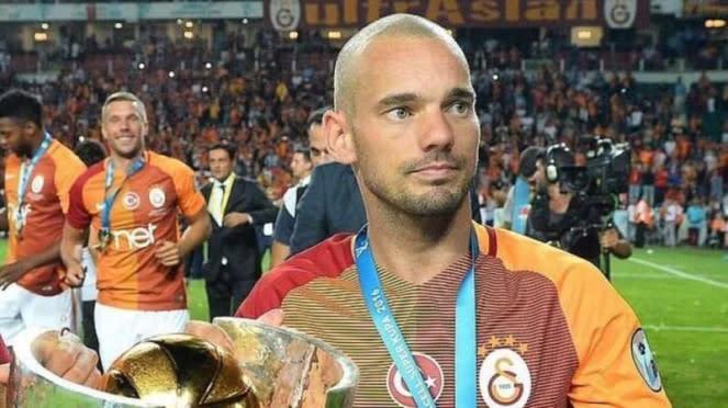 Wesley Sneijder saat masih memperkuat Galatasaray