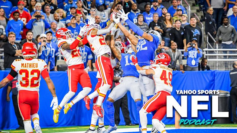 Terez Paylor and Charles Robinson discuss a pair of respectable losses from the Lions and Bills on the latest episode of the Yahoo Sports NFL Podcast (Photo by Steven King/Icon Sportswire via Getty Images)