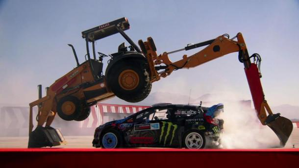 In Gymkhana 6, Ken Block slides again