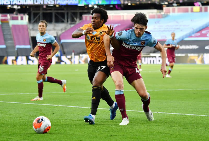 Traore inspires Wolves to 2-0 win at West Ham