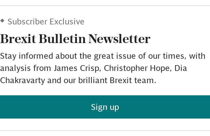 Brexit Bulletin newsletter SUBSCRIBER (article)
